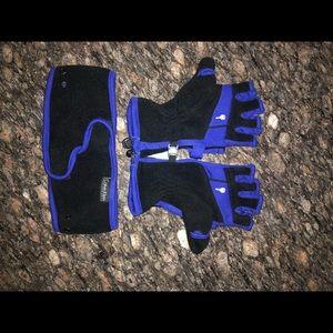 Calvin Klein Performance gloves and headband